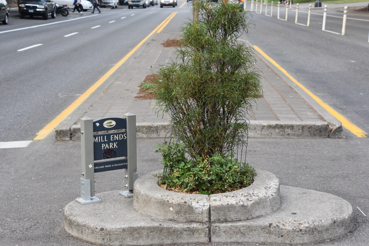 mill ends park in portland, hard state facts
