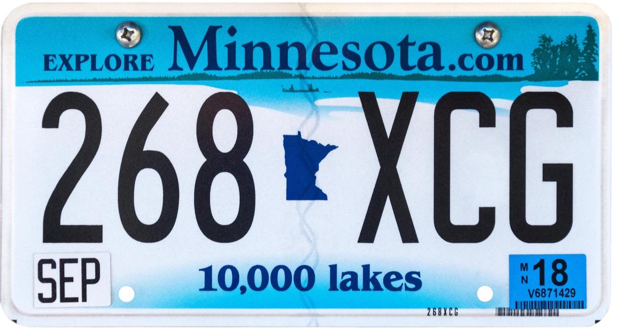 minnesota state license plate