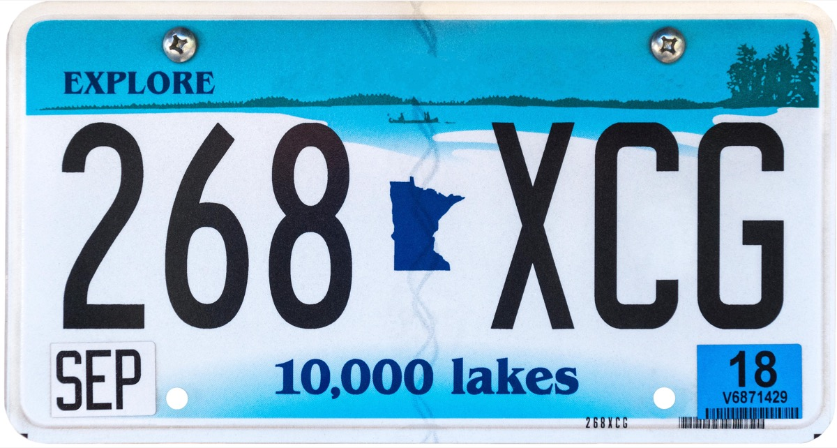 minnesota state license plate photoshopped
