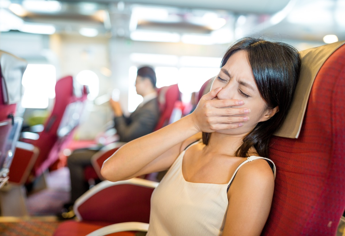 Woman Experiencing Motion Sickness Most Abused OTC Medications
