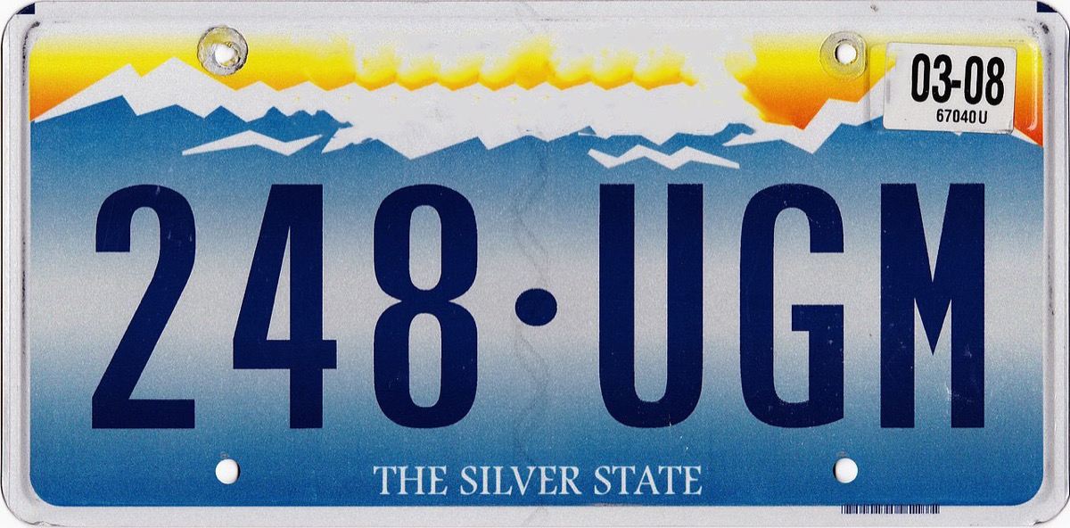 nevada license plate photoshopped