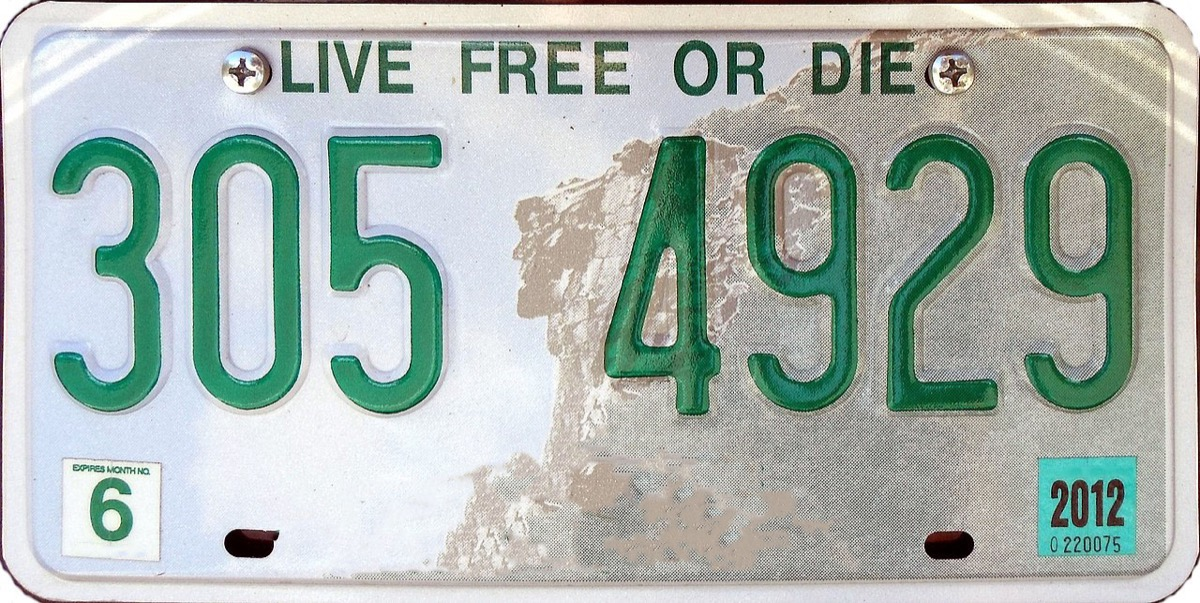 new hampshire license plate photoshopped