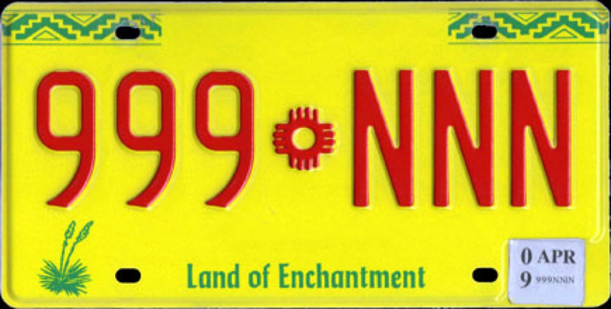 new mexico license plate photoshopped