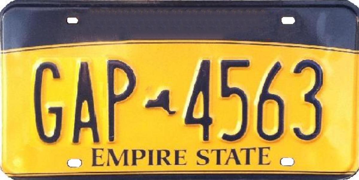 new york license plate photoshopped