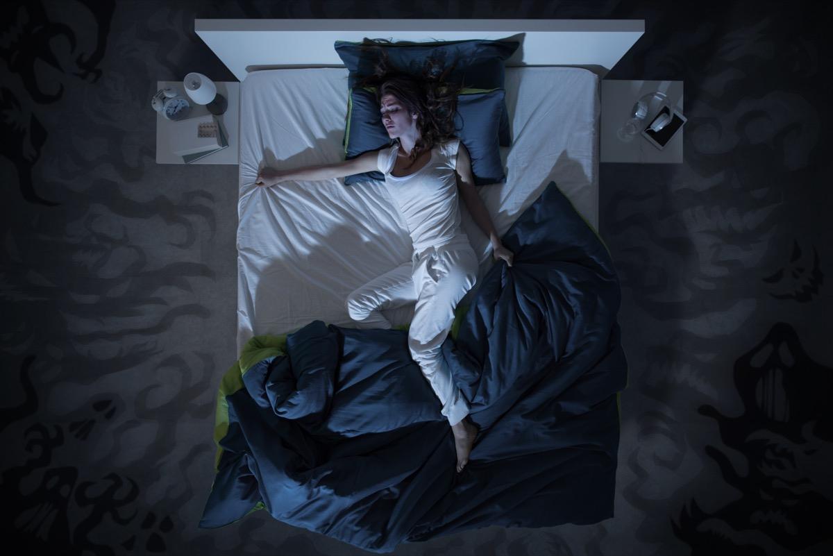 Woman with night sweats