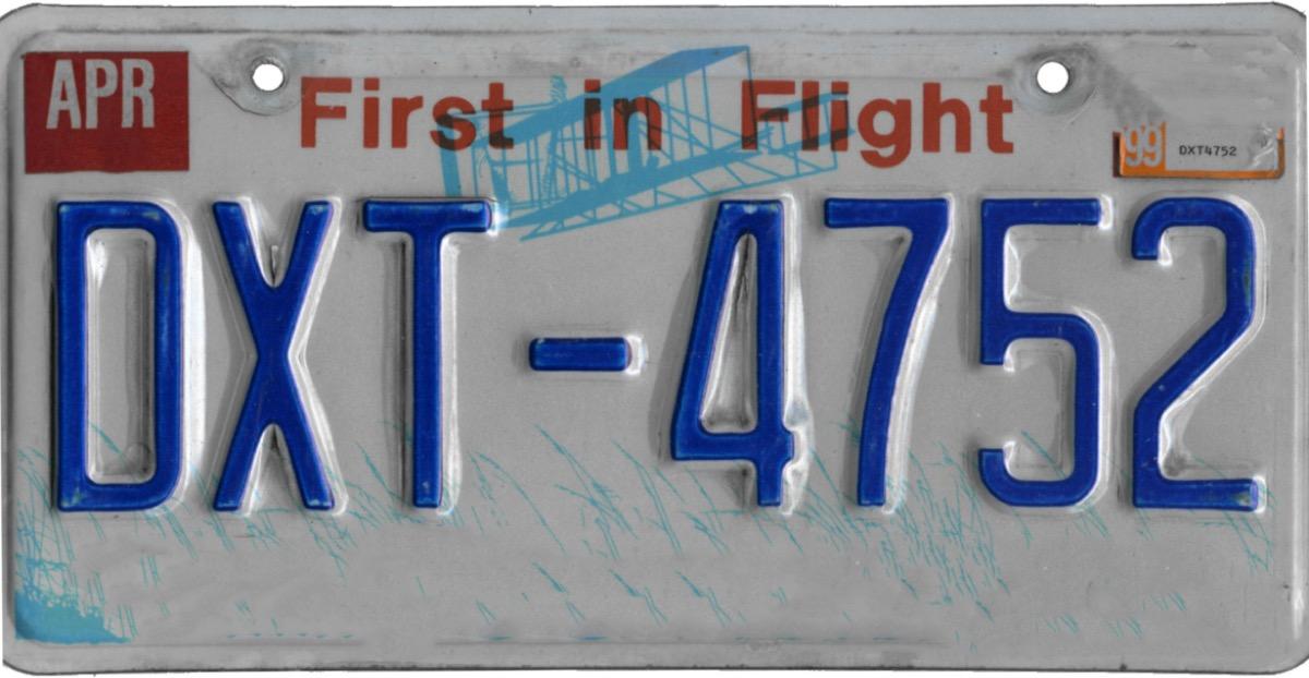 north carolina license plate photoshopped