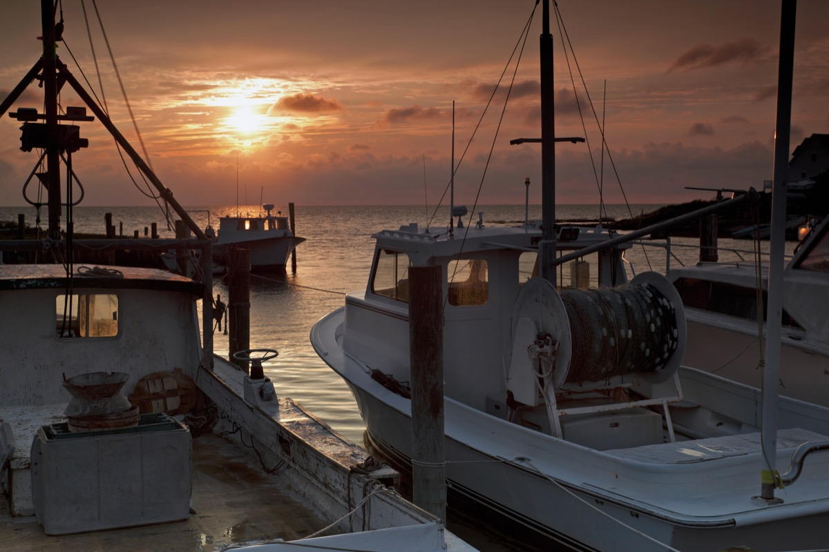 This is a sunset image taken on Hatteras Island on North Carolina's Outer Banks. - Image