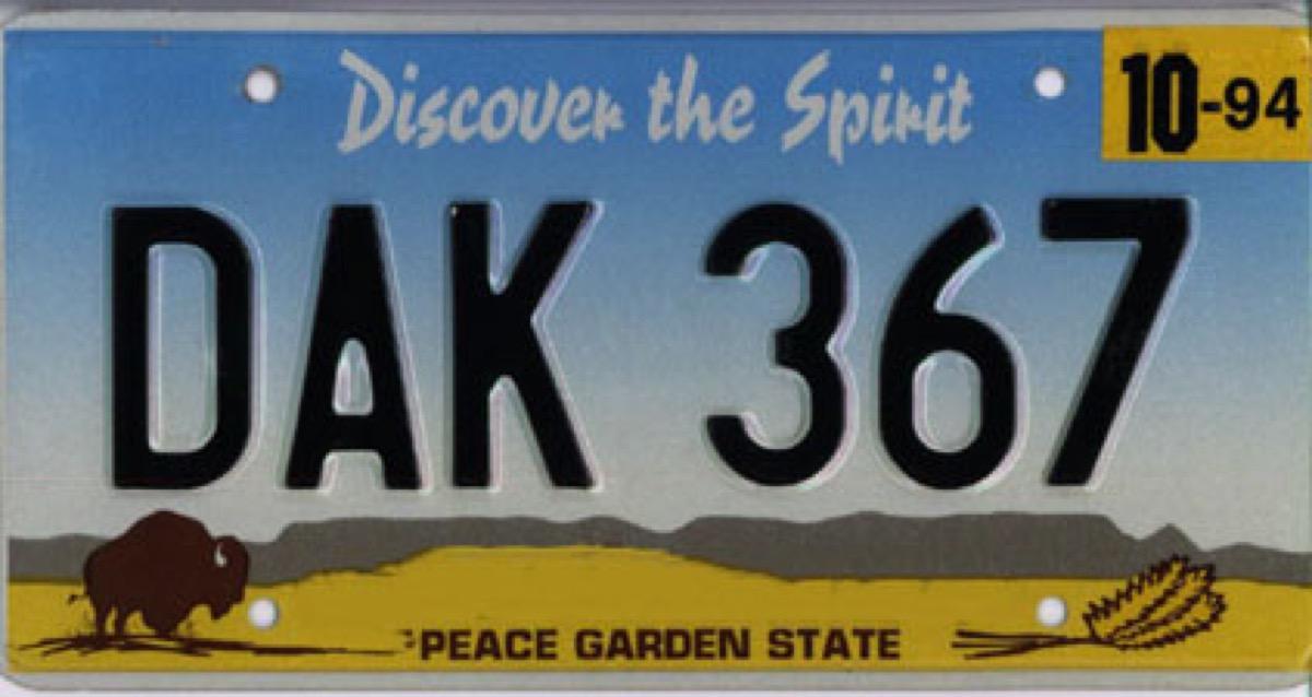 north dakota license plate photoshopped