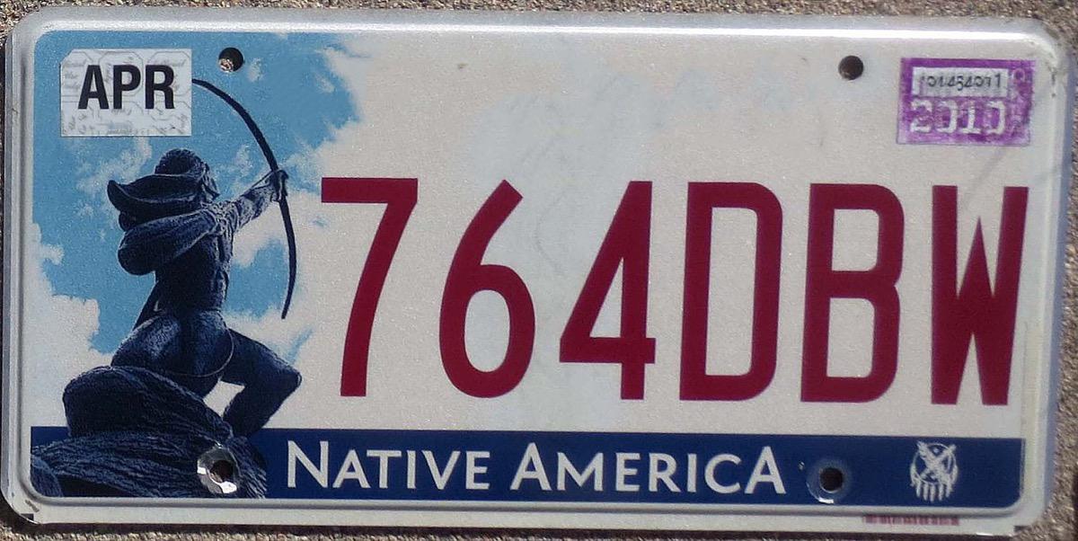 oklahoma license plate photoshopped