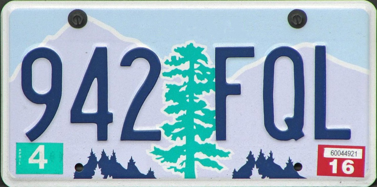 oregon license plate photoshopped