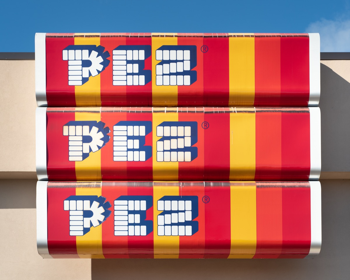 pez candy company sign