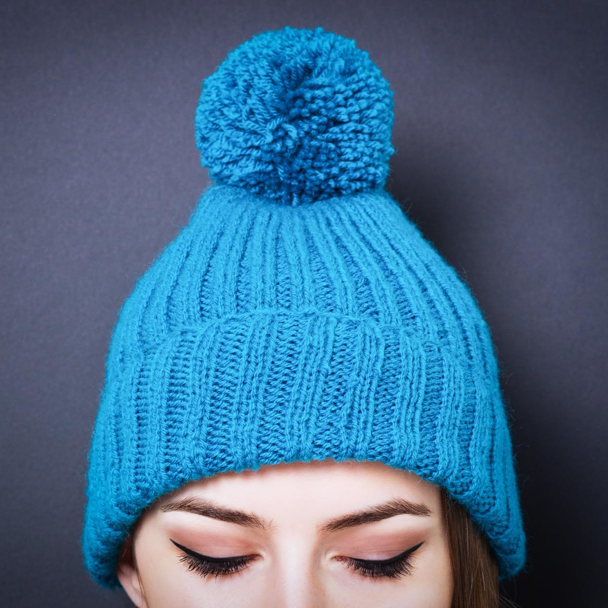 Winter Hat with a Pom Pom