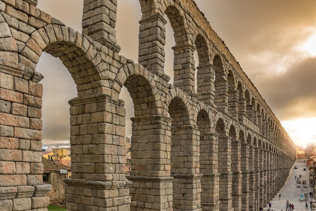 the roman arches of segovia in castilla y leon in spain, ancient rome facts