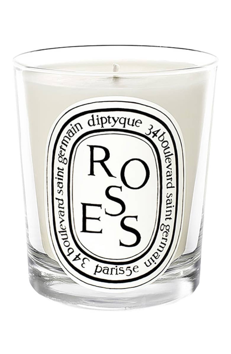 roses scented candle diptyque, gifts for girlfriend
