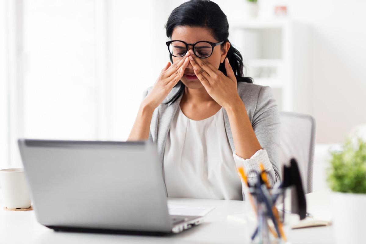woman rubbing eyes health tweaks over 40
