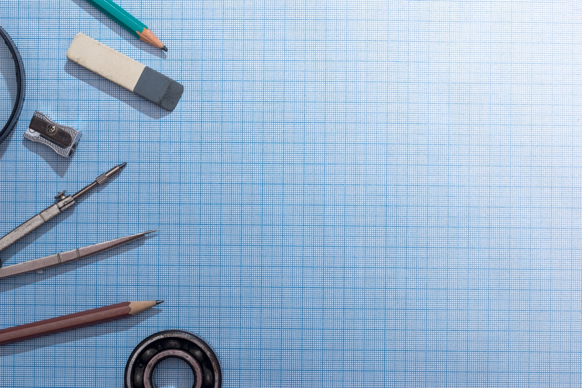 pencil, compass and rulers on graph paper, math jokes