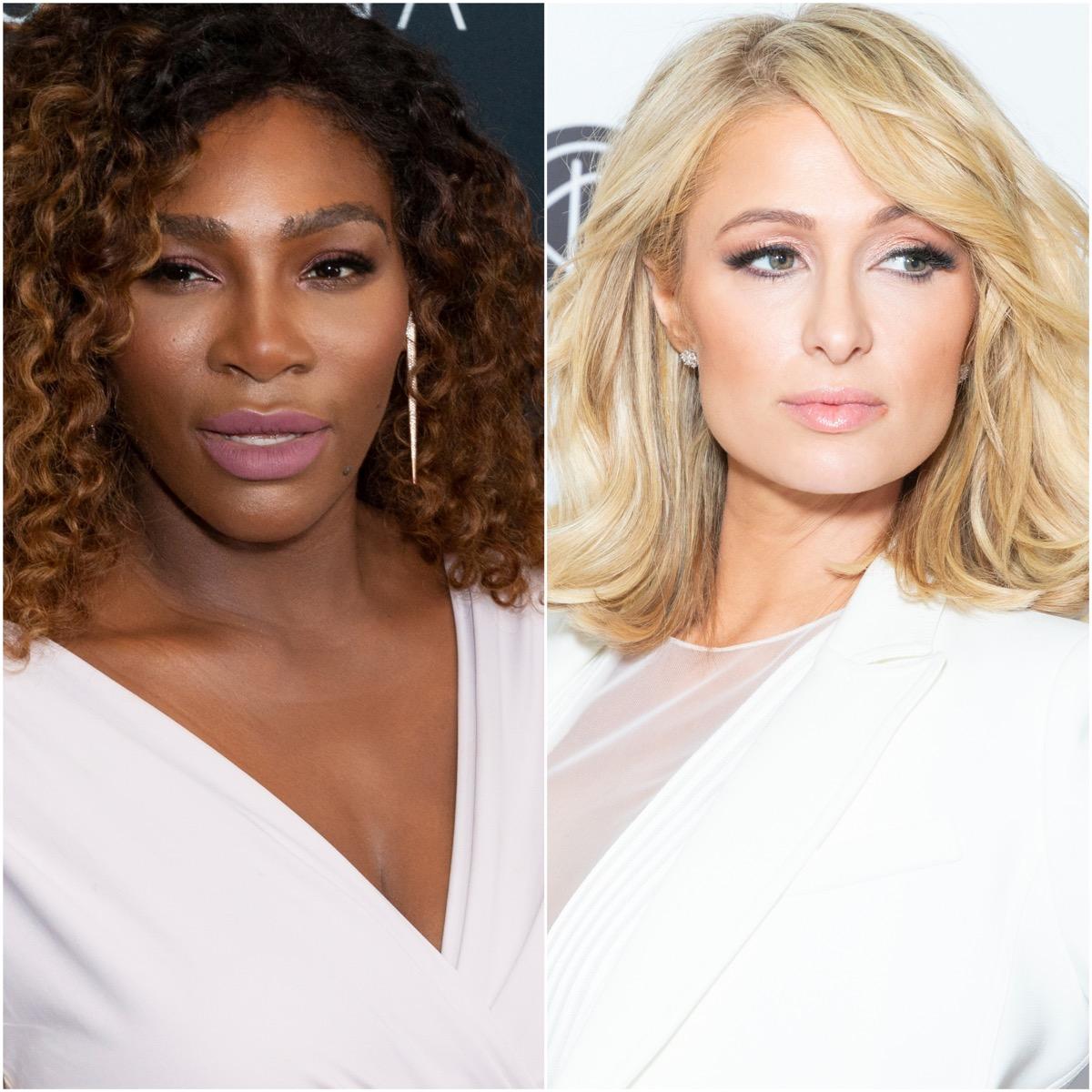 Serena Williams and Paris Hilton