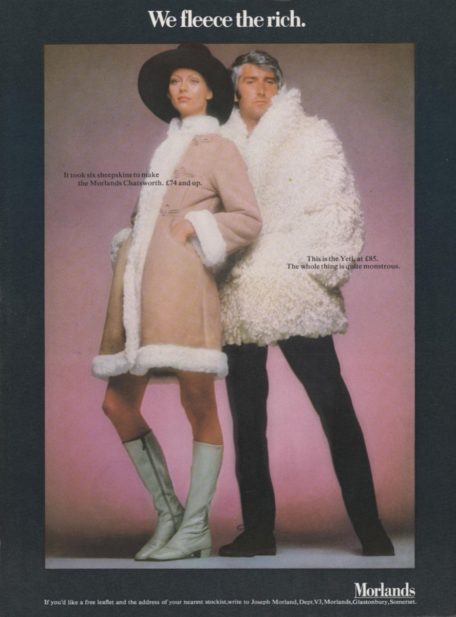 Sheepskin Coat Ad From the 1970s {Cool 1970s Style}