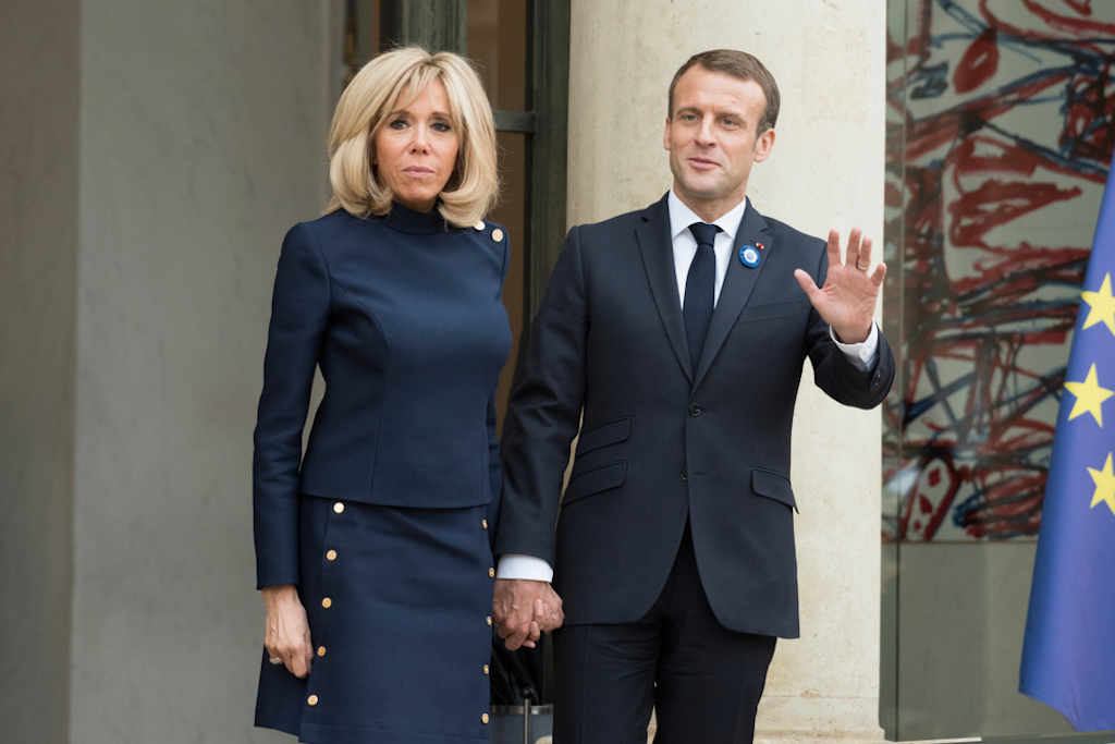 The french President Emmanuel Macron with his wife Brigitte Macron relationships with big age difference