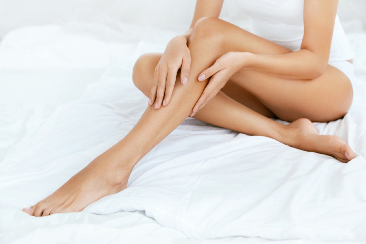 smooth legs old beauty products