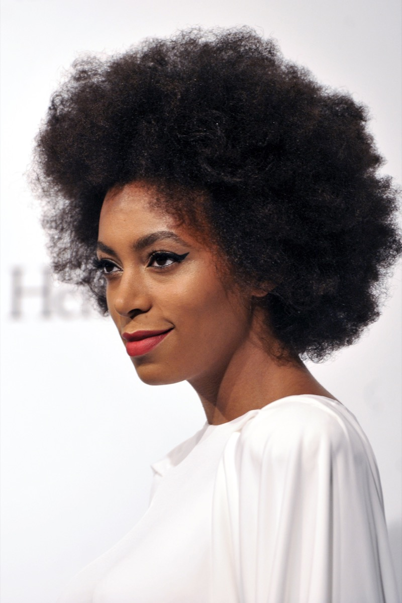 Solange Knowles natural hair women's hairstyles