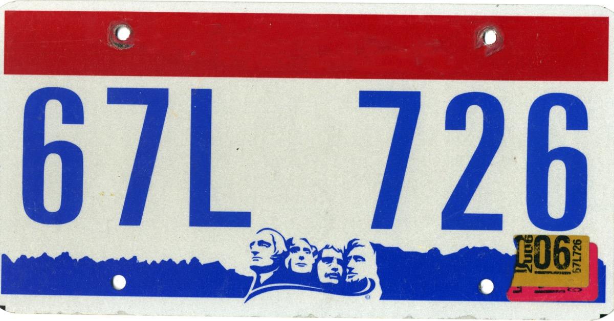 south dakota license plate photoshopped