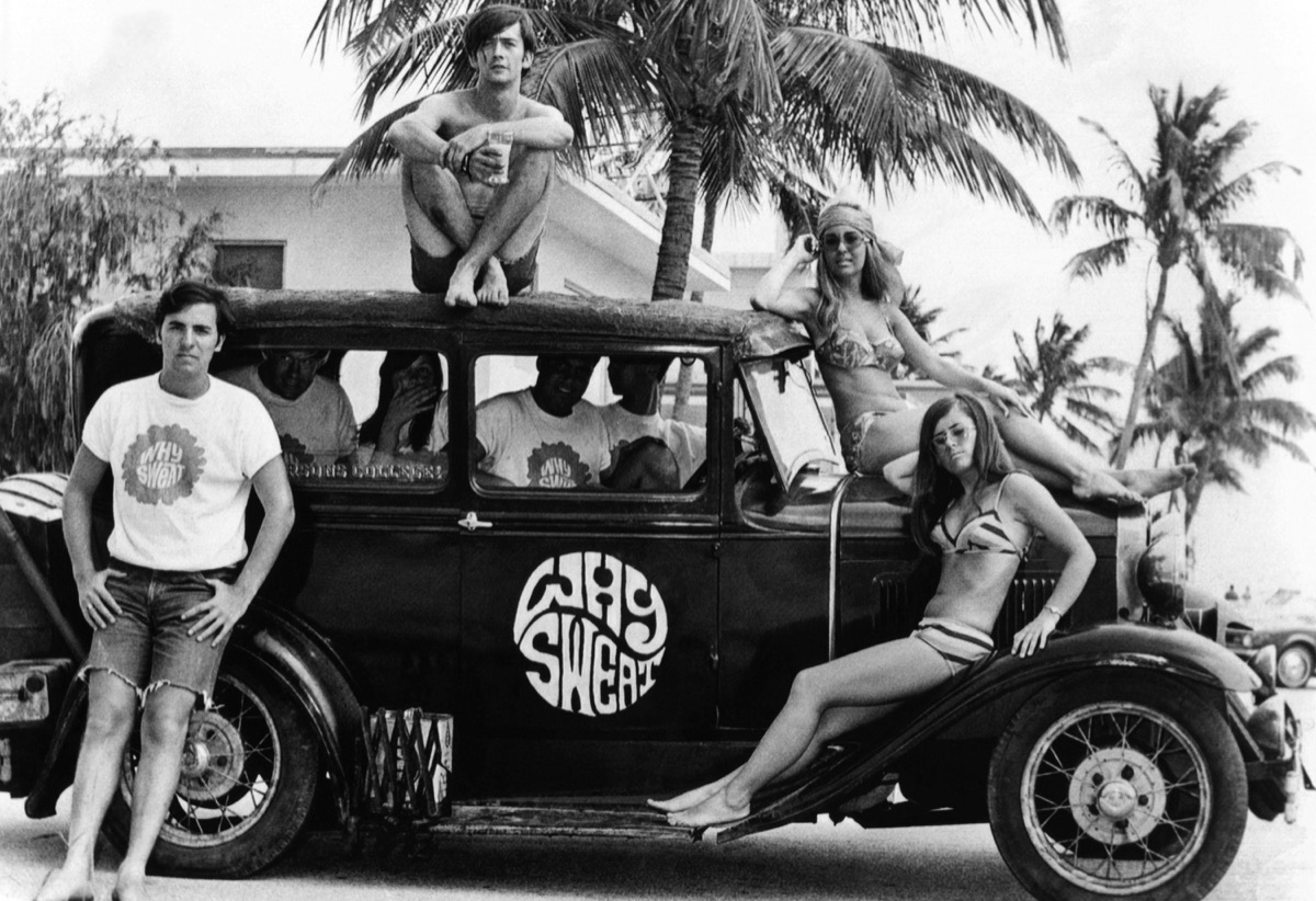Students on Spring Break at the Beach 1960s