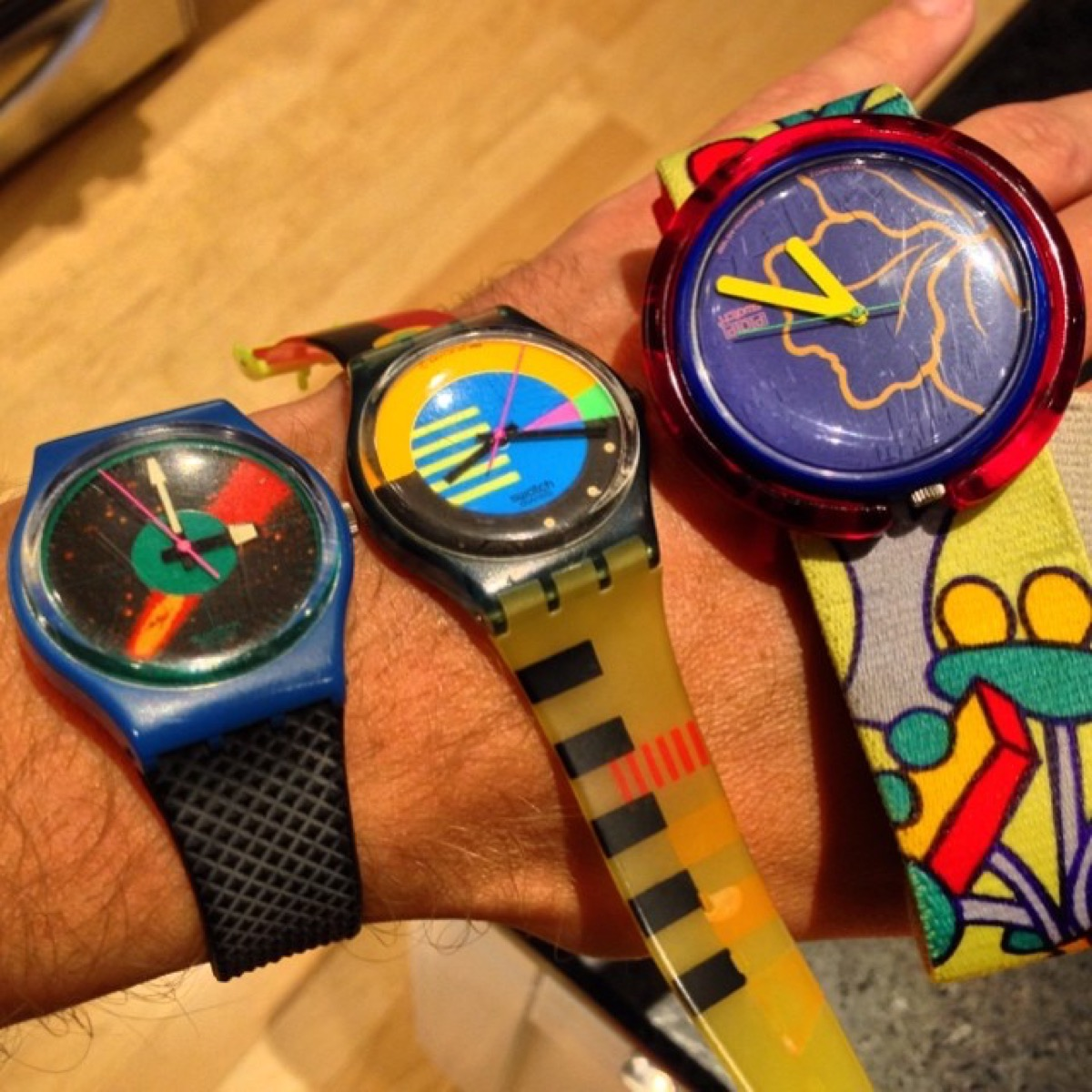 Swatch watches cool 1980s style