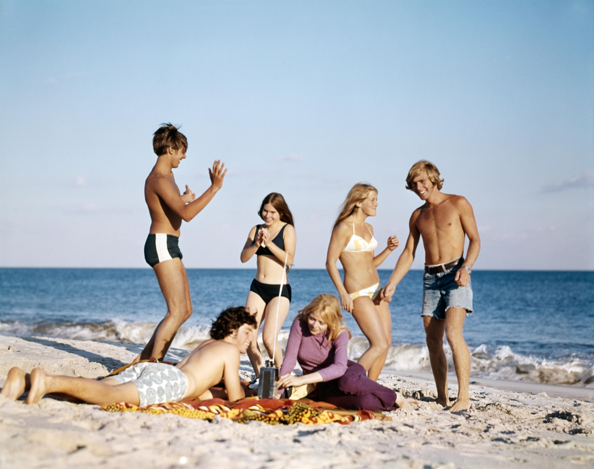 Teenage Couples on the Beach in the 1960s and 1970s {Dating 50 Years Ago}