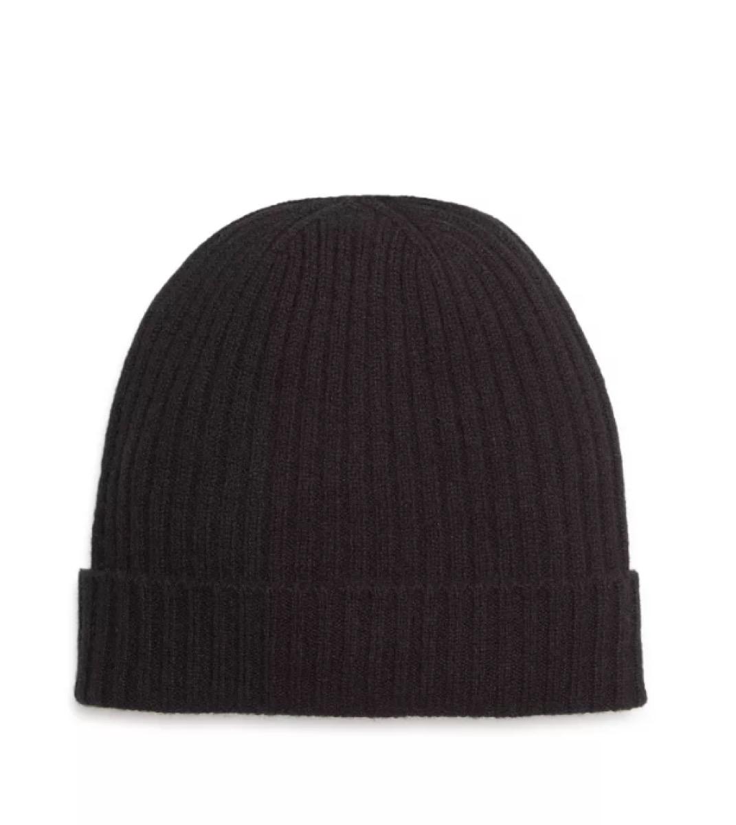 cashmere ribbed cuff hat, best boyfriend gifts