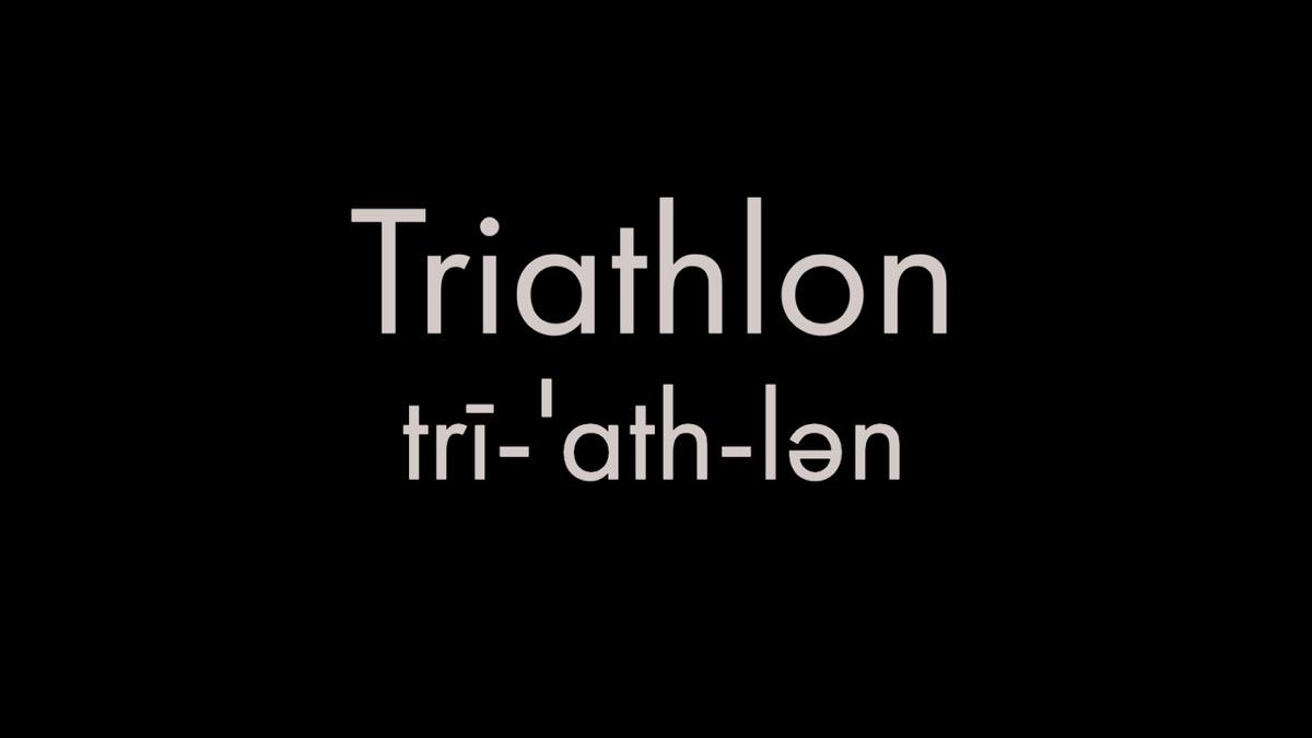 How to pronounce triathlon