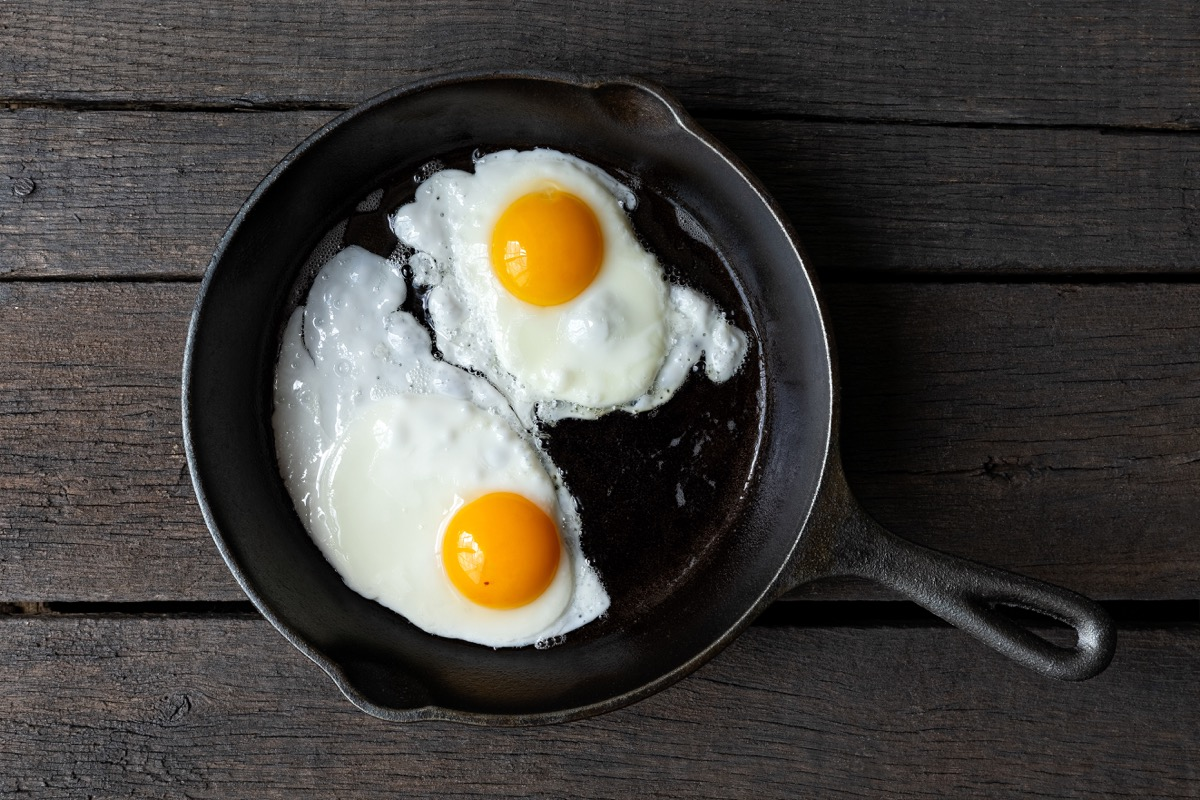 two over easy eggs cracked in a frying pan, smart person habits