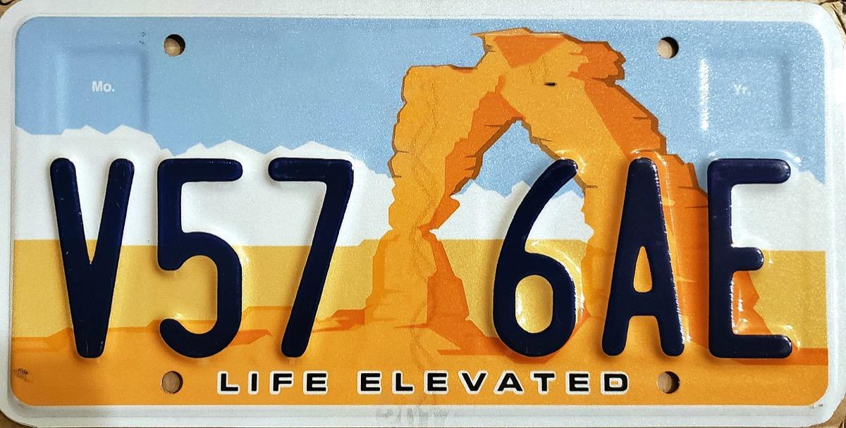 Utah license plate photoshopped