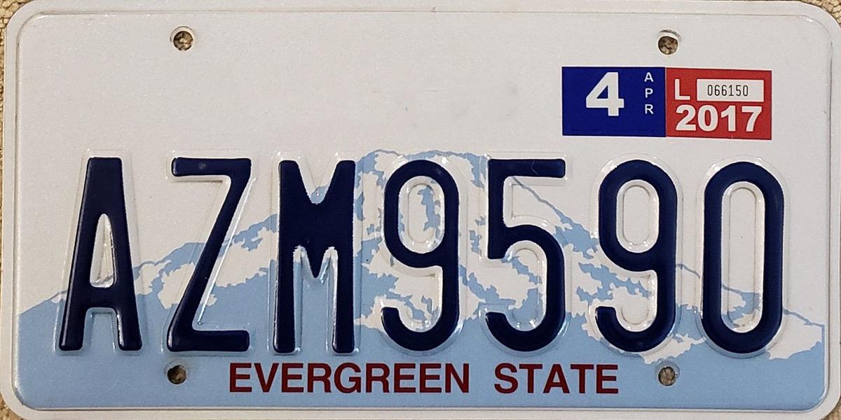 washington license plate photoshopped