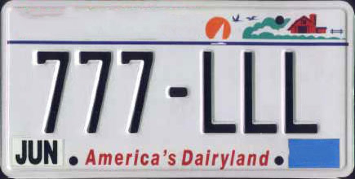 wisconsin license plate photoshopped
