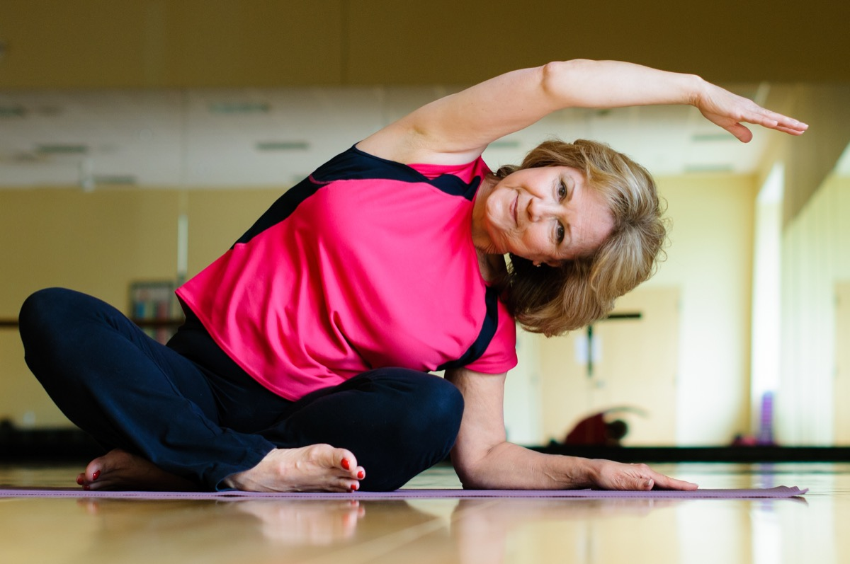 Adult Woman Doing Yoga at the Gym Stop Lying to Your Doctor