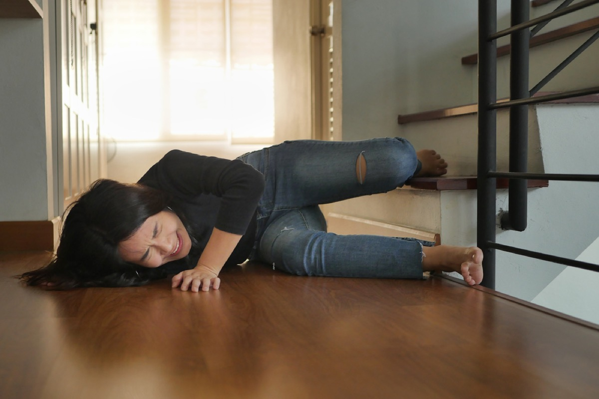 woman falling down stairs How Depression Affects the Body