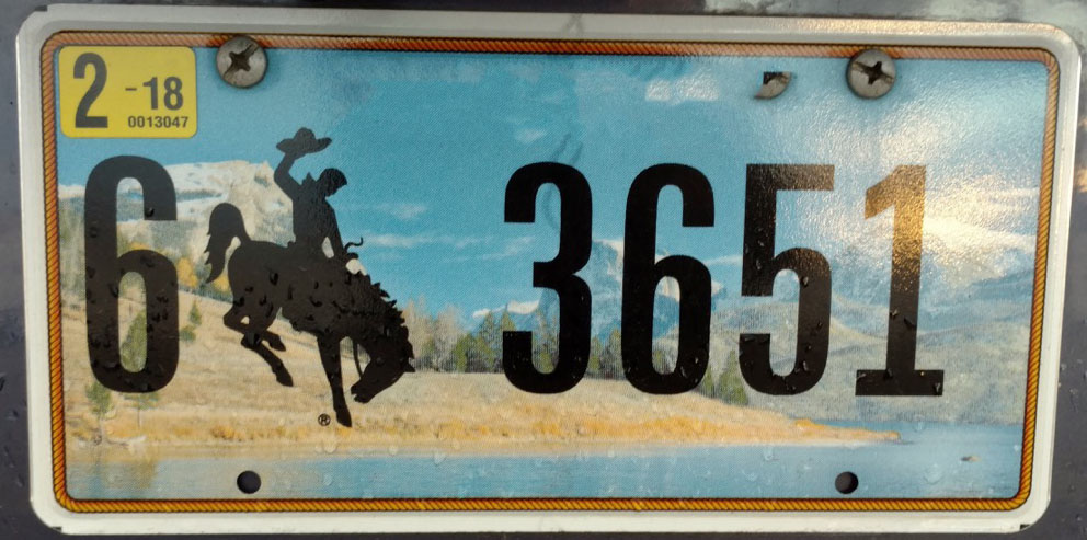 wyoming license plate photoshopped