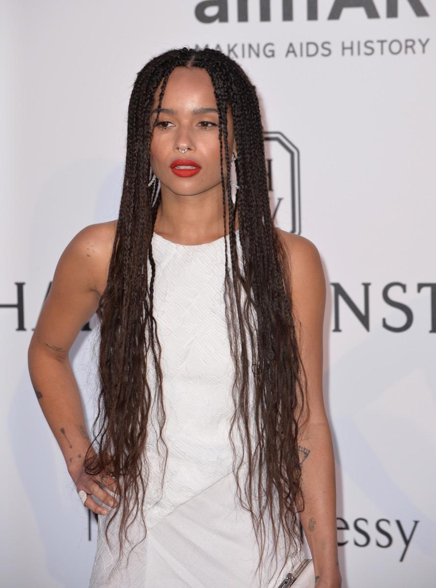 Zoe Kravitz long braids women's hairstyles