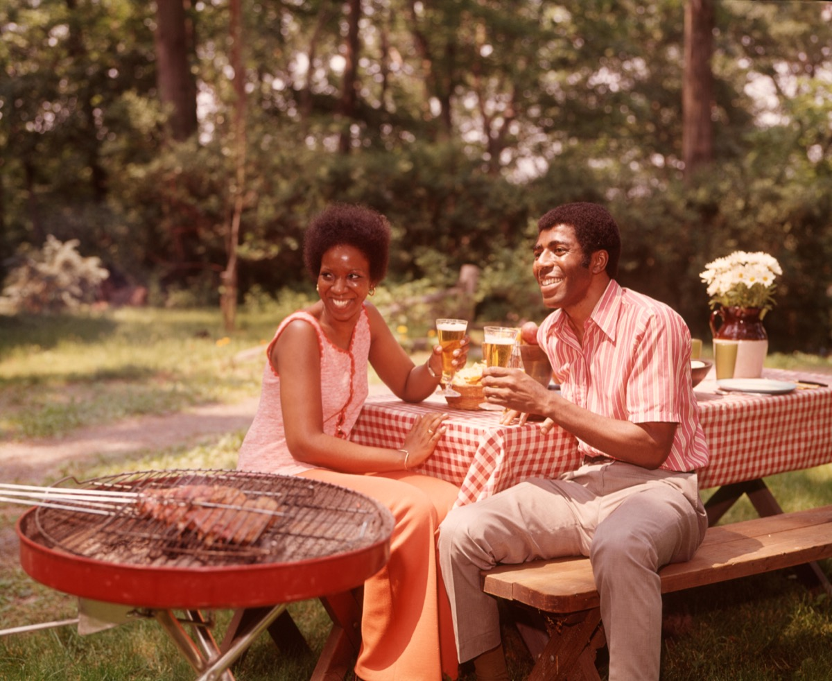 1970s African American Couple on a Date