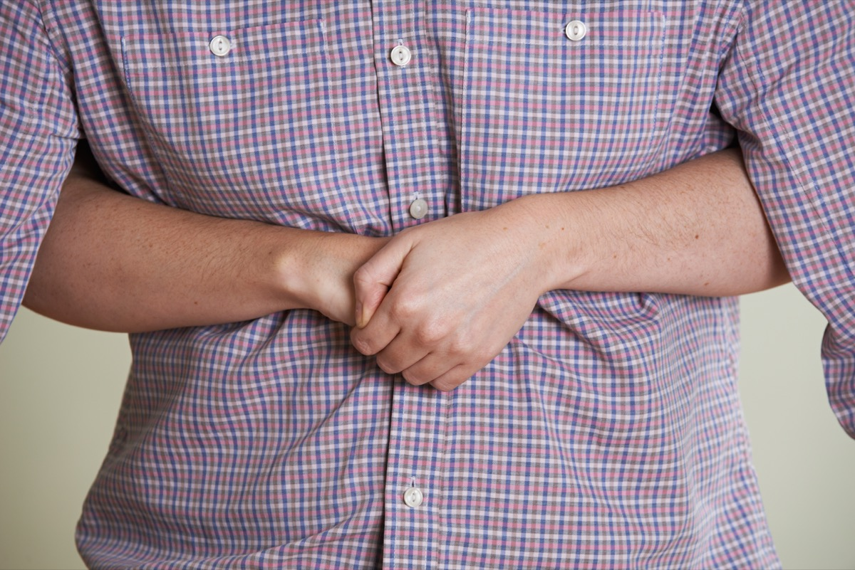 Heimlich Maneuver performing on choking man