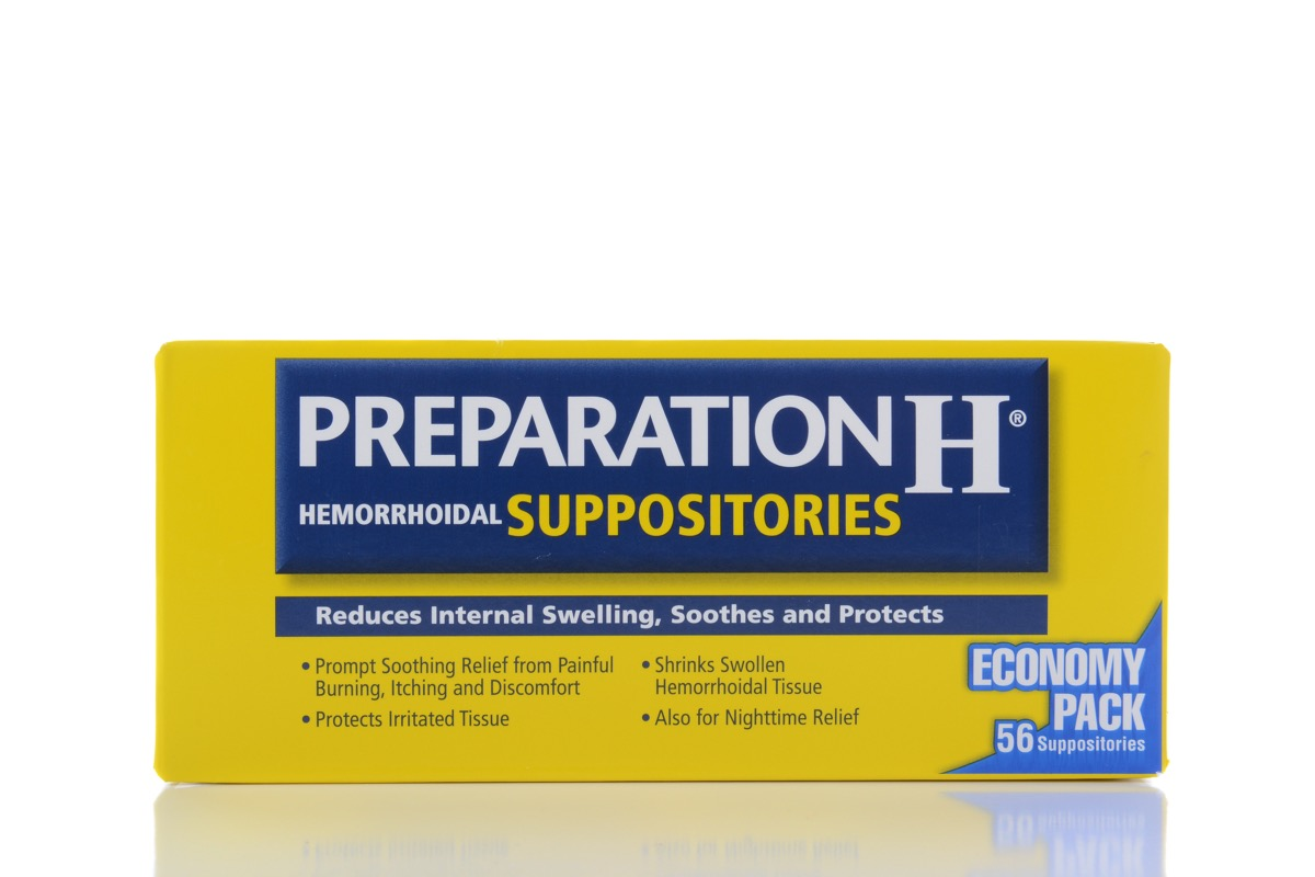 Preparation H box, pageant facts