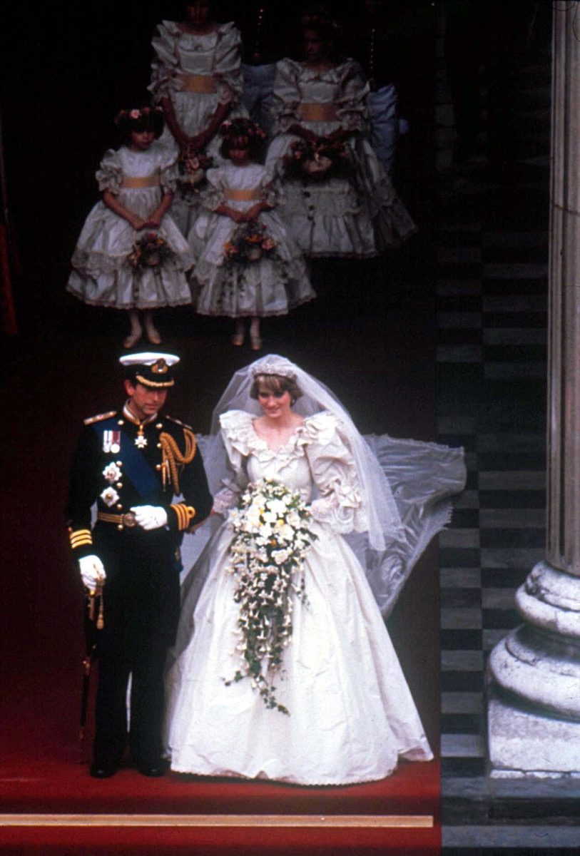 Princess Diana Prince Charles Wedding, aerial view, 1981