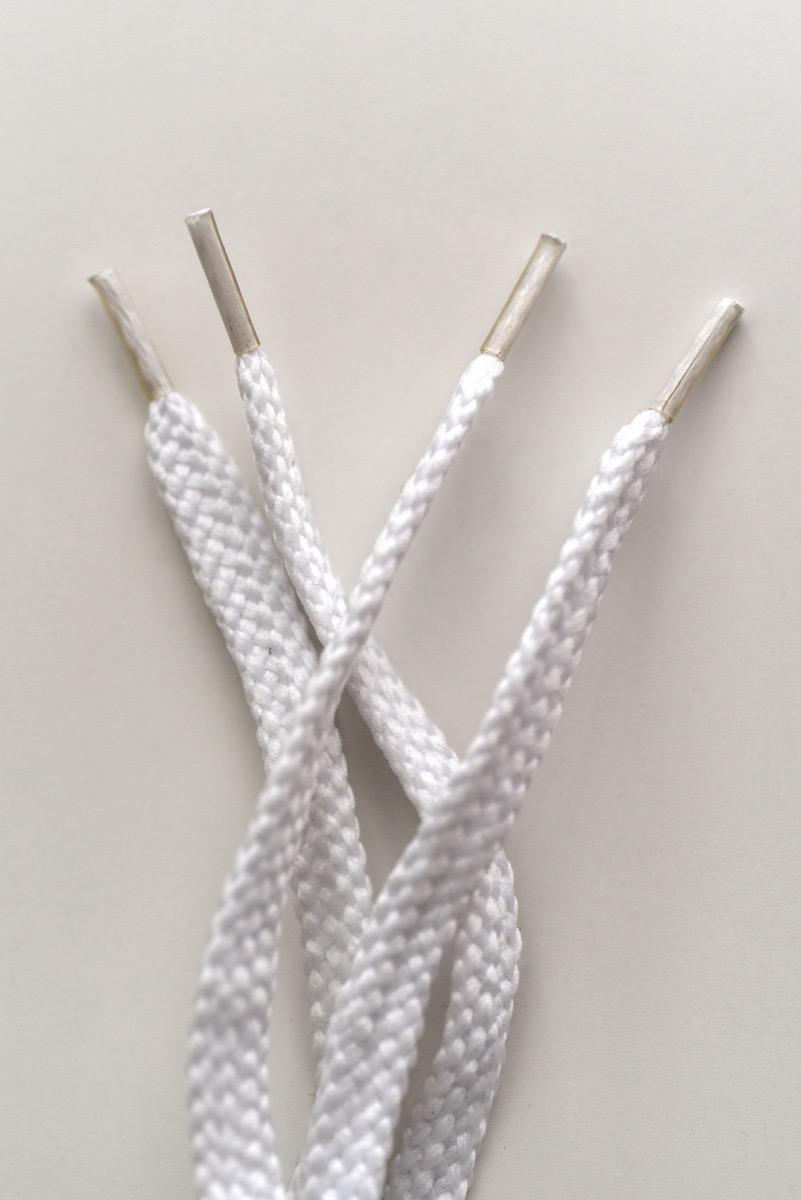 White shoelaces