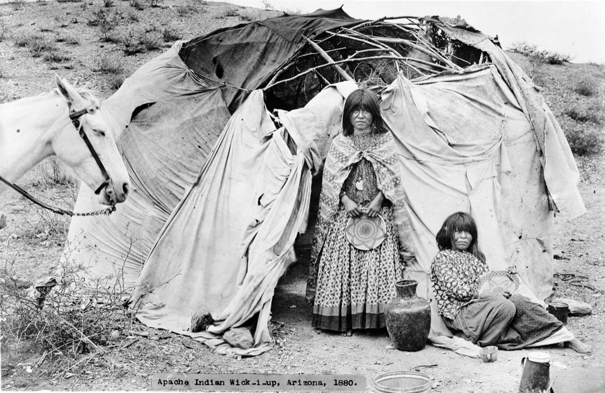 apache arizona tribe in a camp, most common street names
