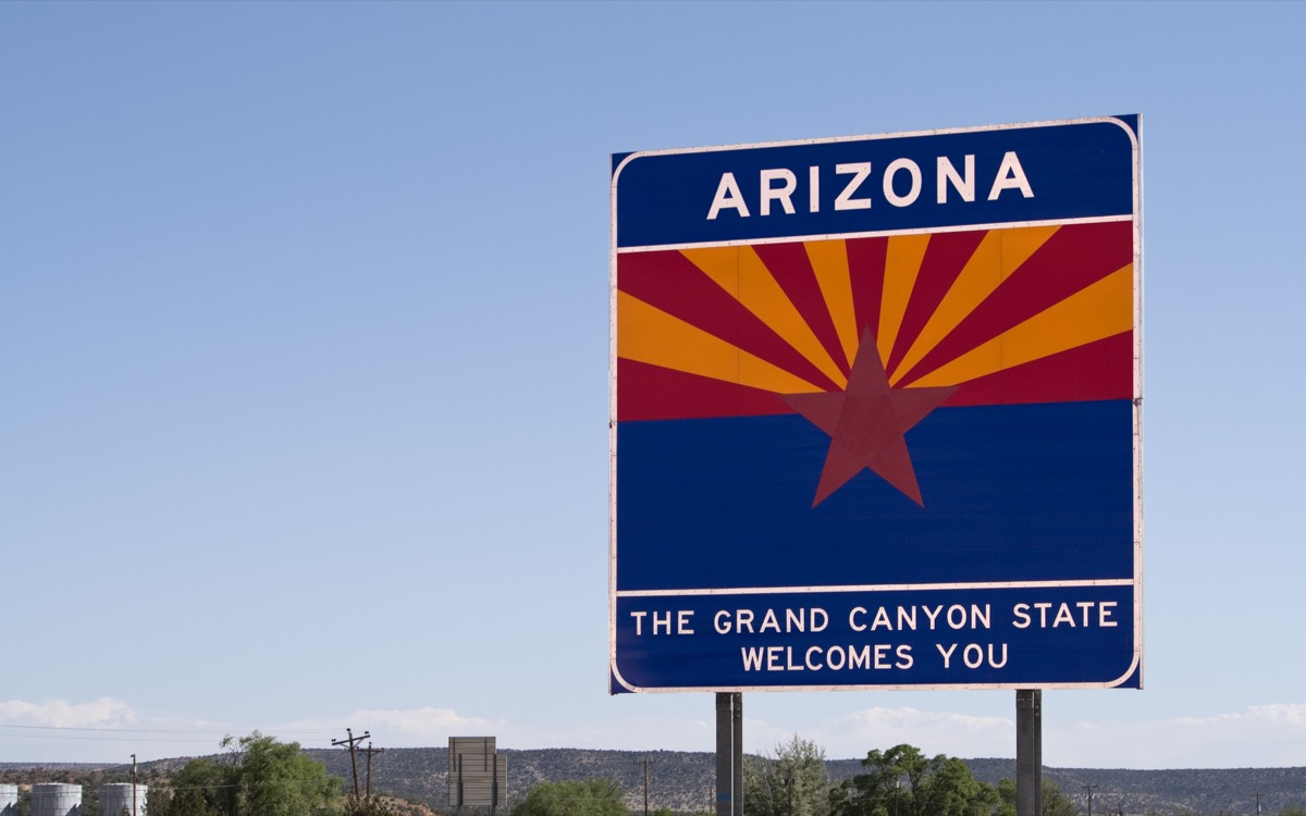 arizona state welcome sign, iconic state photos