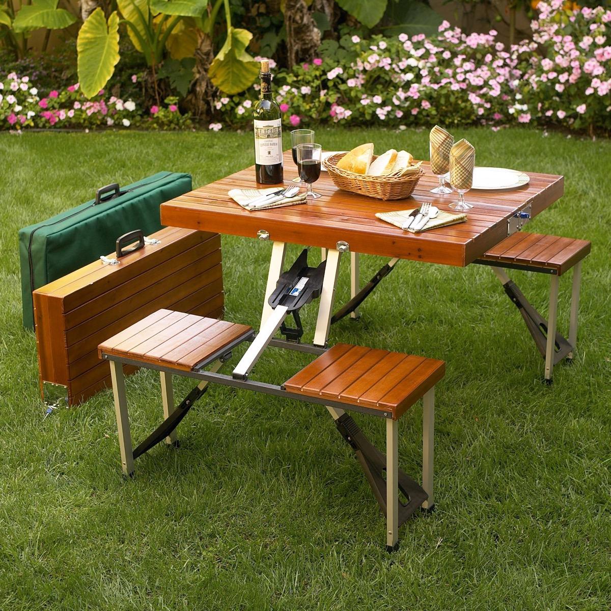 ascot portable picnic table set