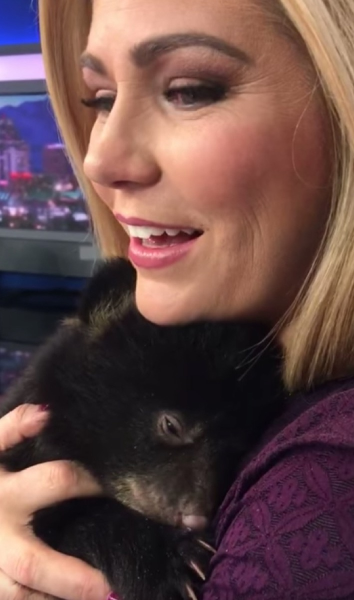 baby bear cuddling with woman adorable photos of bears
