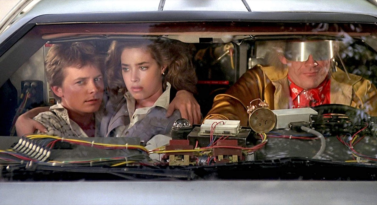 screen shot from back to the future part II, feel old