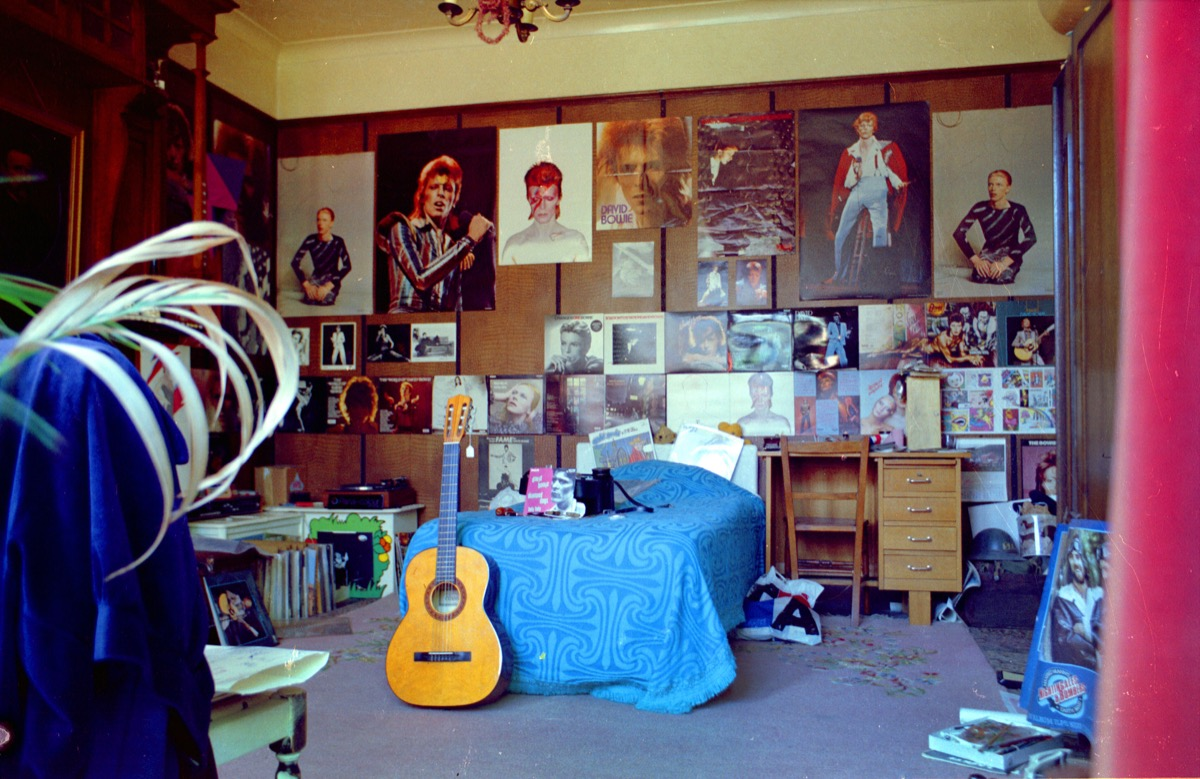 A 1970s Bedroom Covered in Posters 1970s Home Decor